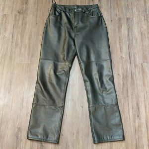 Unbranded Leather High Waisted PANTS | 25059